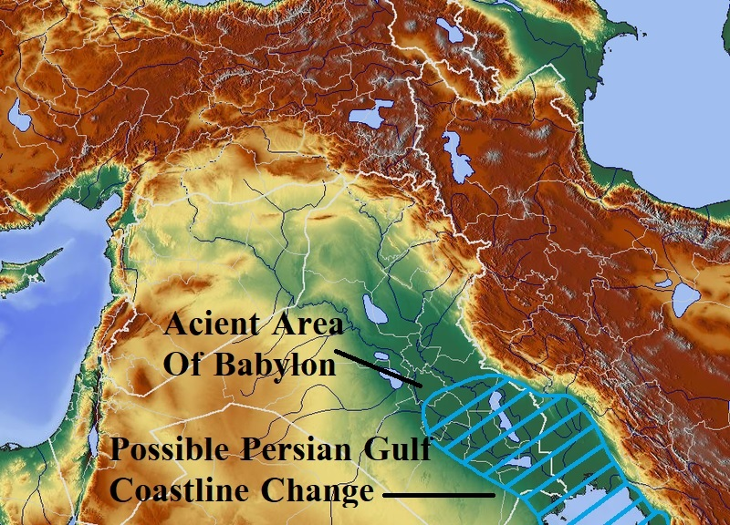 Possible change to Persian Gulf Coastline during the Tribulation