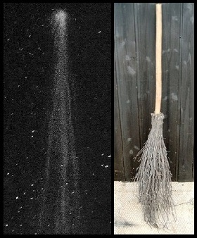 Comet looks like a broom