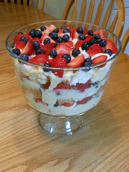 Summer Trifle Dessert